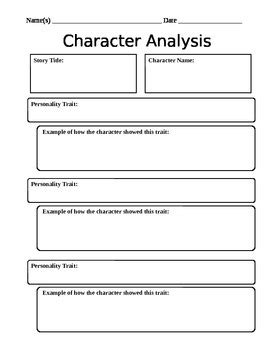 character analysis worksheet by mightier than the sword tpt