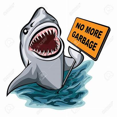 Pollution Garbage Clipart Shark Ocean Background Voting