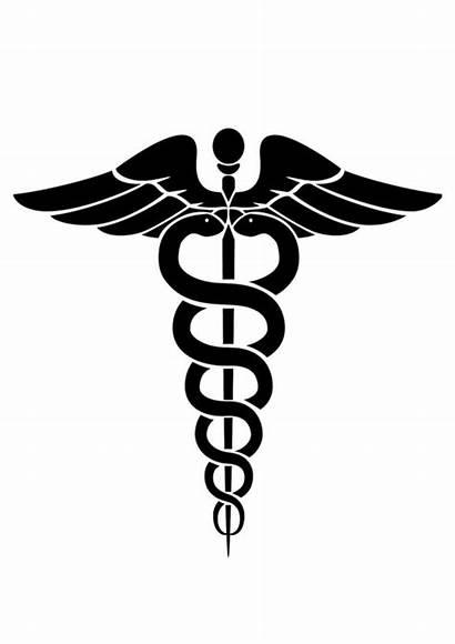 Medical Symbol Coloring Sign Caduceus Hospital Printable