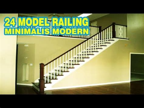 railing tangga minimalis terbaru  youtube