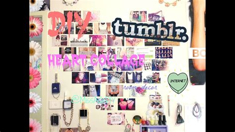 DIY TUMBLR HEART PHOTO WALL COLLAGE ♡ FIRST VIDEO 😚 YouTube