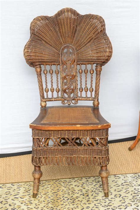 heywood wakefield wicker chair at 1stdibs