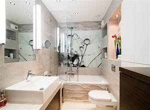 Kleine Moderne Badezimmer : badezimmer ideen f r kleine b der mit fototapeten ~ Sanjose-hotels-ca.com Haus und Dekorationen