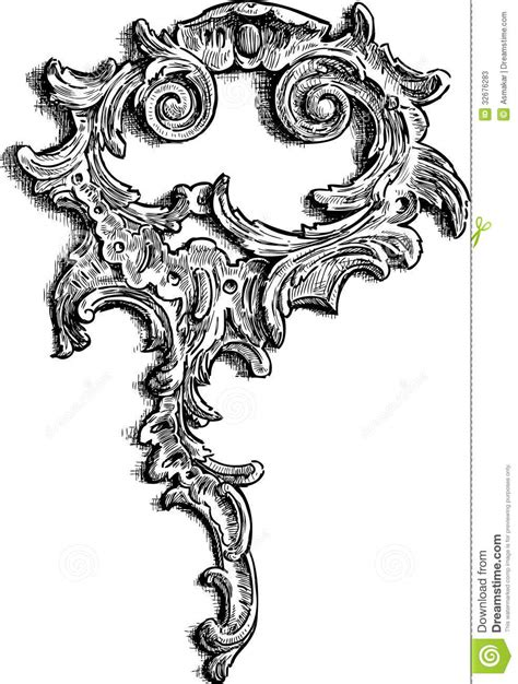 baroque element stock  image