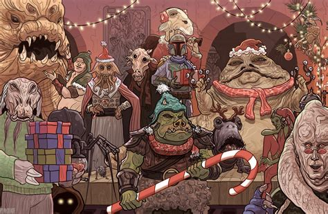 Wish a merry christmas to loved ones this holiday season with star wars christmas cards from zazzle! Jabba the Hutt Christmas Card Star Wars by McQuade on DeviantArt