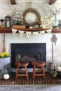 inspiring rustic fireplace mantel 20+ Inspiring DIY Rustic Fall Decor Ideas | The Crafting Nook