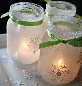 christmas mantel white christmas jar luminaries