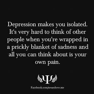 Depression Hurts Quotes Alone. QuotesGram