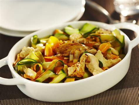 recettes de cuisine light tagliatelles de carottes courgettes et aiguillettes de