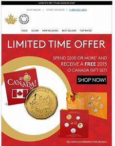 Free Gift (O Canada Coin Set) From The RCM if you spend ...