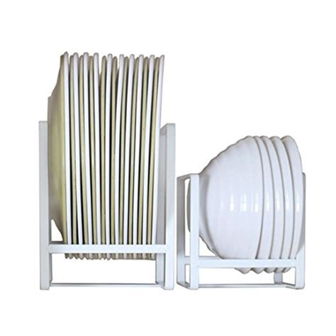plate holders organizer  kitchen cabinets vertical metal dinner dish cradle storage rack