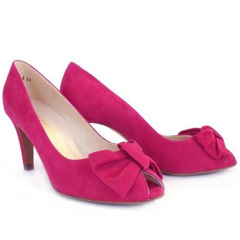 faux suede flower pumps pink suede peep toe heels heels zone