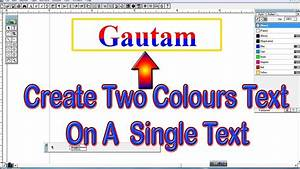 Advance Tutorial Of Adobe Pagemaker   How To Create Single Text With Two Colours