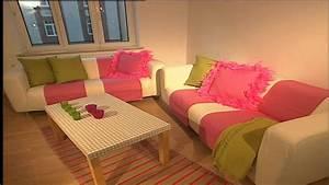 Rosa Deko Wohnzimmer : deko tipps retro wohnzimmer innendekoration in rosa youtube ~ Frokenaadalensverden.com Haus und Dekorationen