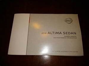 19 2019 Nissan Altima Owners Manual With Navigation