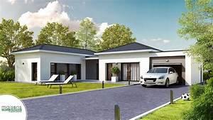 Maison Plain Pied En L : maison moderne plain pied ~ Melissatoandfro.com Idées de Décoration
