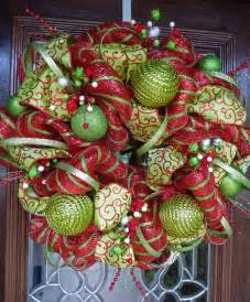 decoration ideas astounding image of light green bauble ornament green and red mesh christmas
