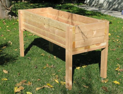 build a standing planters glamorous elevated planter box raised planter