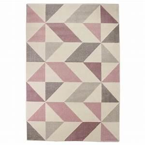 tapis de salon madrid style moderne 120x170 cm rose With tapis de salon rose
