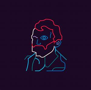 Colorful, Minimalist Portraits Of Van Gogh, Dali, Other ...