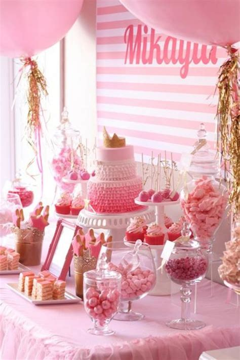 Pink And Gold Birthday Decorations by Pinkalicious Princess Pink And Gold Birthday Via