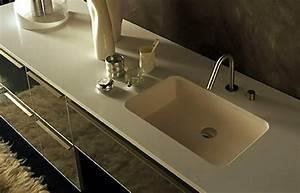 Corian Plan De Travail : plan de travail salle de bain ~ Mglfilm.com Idées de Décoration