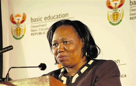 The minister of basic education, mrs. Department of basic education Minister Angie Motshekga postpones briefing - TheLeak