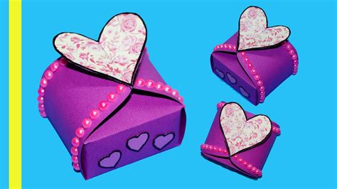 diy paper crafts idea gift box sealed  hearts gift