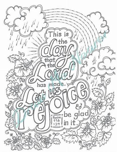 Coloring Psalm 118 Bible Adult Verse Printable