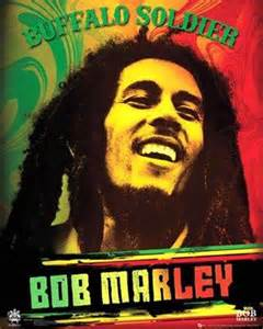 bob marley buffalo soldier rasta color wall poster