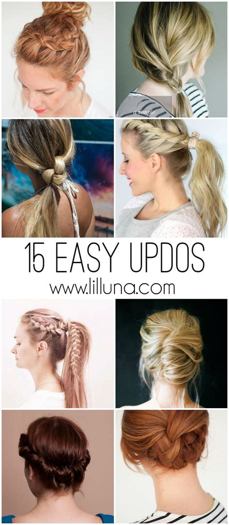 Easy Hairstyles For Hair Day by 15 Easy Updos For All Lengths And Types Of Hair