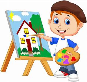 Boy Painting Clipart (20+)