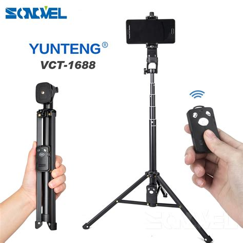 3 in 1 Yunteng 1688 Bluetooth Remote Shutter Portable ...