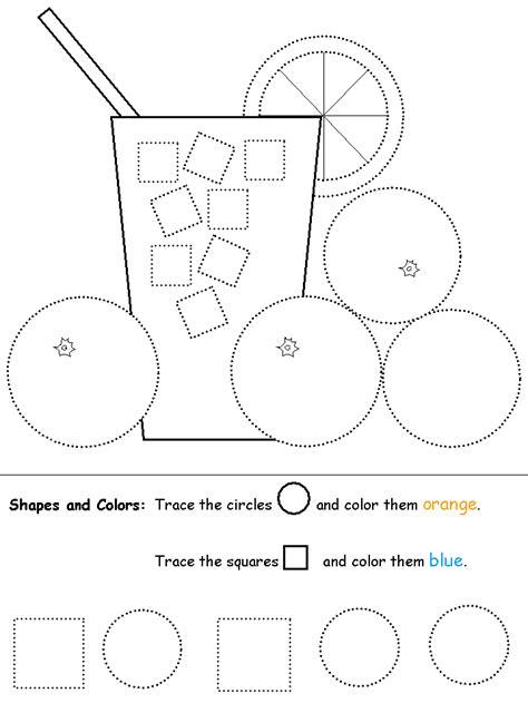 shapes recognition practice worksheet shapes preschool