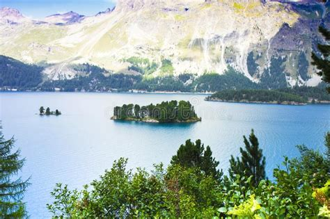 Sils Lake In The Upper Engadine Valley In A Summer Day
