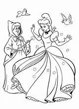 Coloring Cinderella sketch template