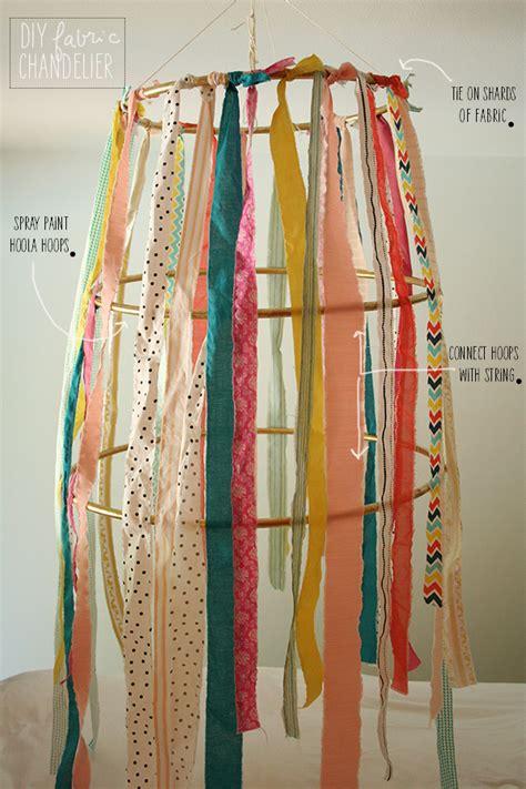 diy fabric chandelier la la lovely