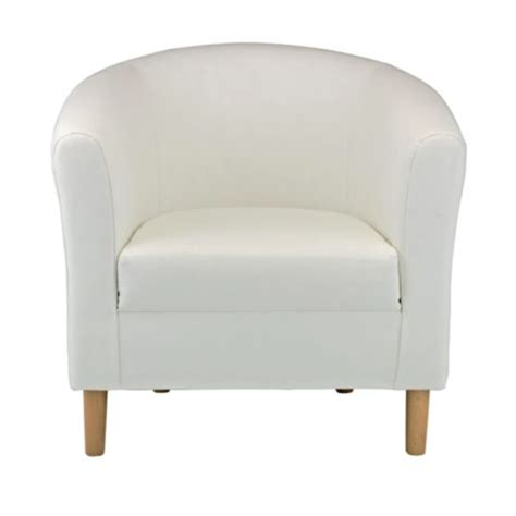white leather tub chair plasmatising