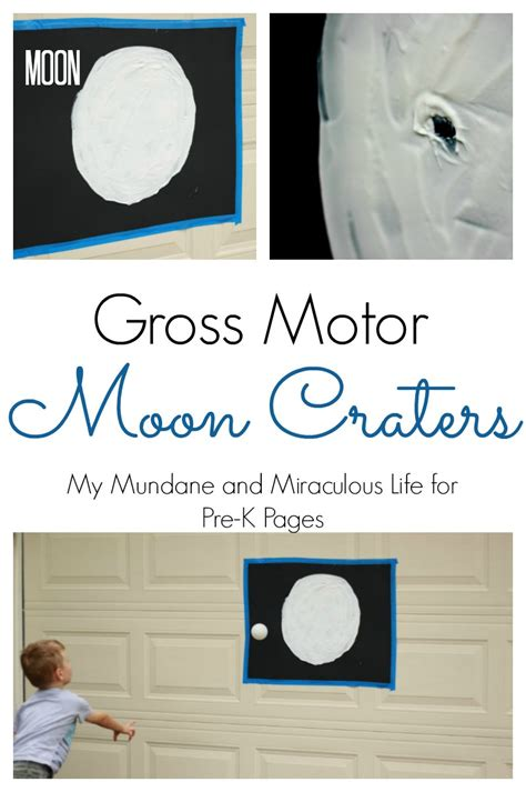 moon crater gross motor activity pre k pages 659 | gross motor moon craters pin