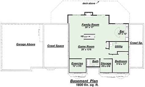 p 801 finished basement floor plan for the paoletti house plan