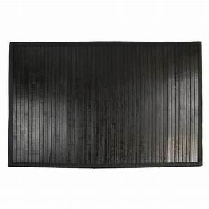 Bambou Noir Prix : tapis de bain lattes bambou noir tapis salle de bain eminza ~ Teatrodelosmanantiales.com Idées de Décoration