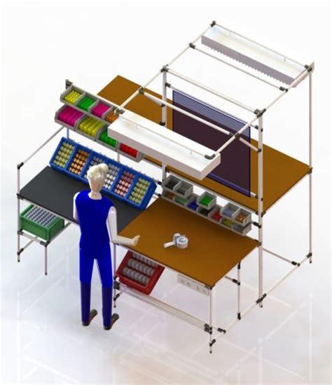 lavoro di assemblaggio da casa postazione ergonomica di lavoro lean per assemblaggio