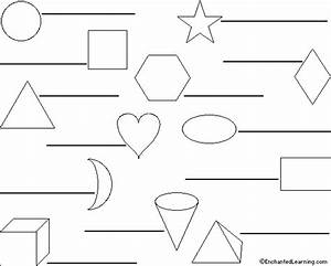 Label The Shapes In Spanish Printout