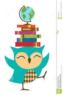 Owl Clip Art School Books