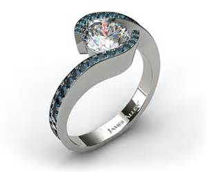 tension setting engagement ring pave tension engagement ring engagement ring wall