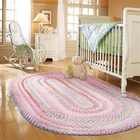 Nusery Rugs by New Braided Cotton Blend Woven Area Rug Nursery Room