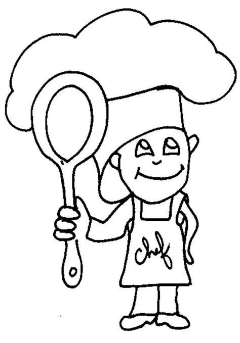 dessin de cuisine à imprimer coloriage petit chef cuisinier tête à modeler