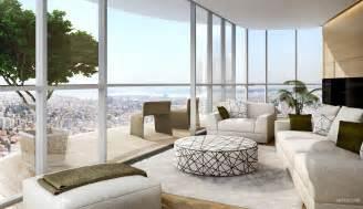white kitchen island breakfast bar penthouse interior designs visualized