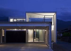 Minimalist, House, Design, That, Consist, Of, Small, Rectangular, Blocks
