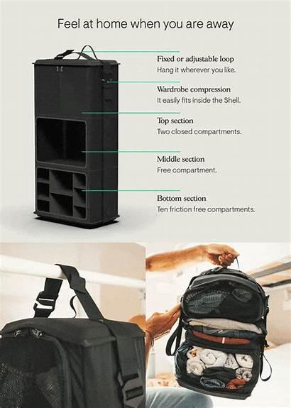 Backpack Shell Travel Tropicfeel Kickstarter Inside Deep